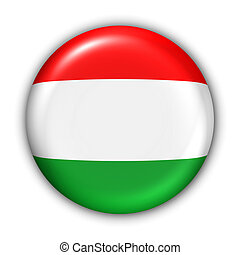 Hungary Flag - World Flag Button Series - Europe -...