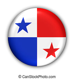 Panama Flag - World Flag Button Series - Central...
