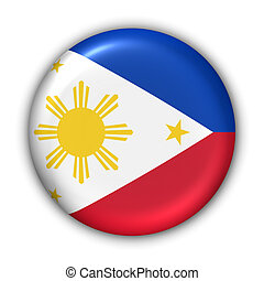Philippines Flag - World Flag Button Series - Asia -...
