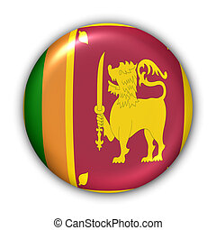 Sri Lanka Flag - World Flag Button Series - Asia - Sri Lanka...