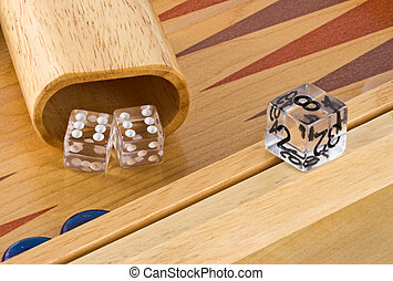Backgammon 2 - Backgammon board with roll of double sixes