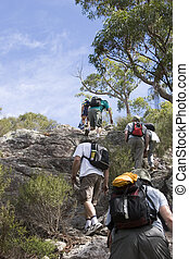 group climbing mt maroon 2 - large group climbing mt maroon...