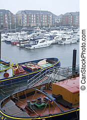 Swansea Marina, UK. - Regeneration in Swansea Marina...