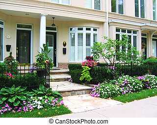 Row of Townhouses - Elegant row of townhomes