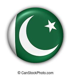Pakistan Flag - World Flag Button Series - Asia - Pakistan...