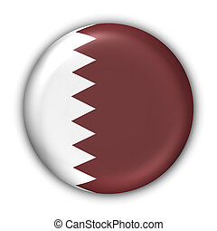 Qatar Flag - World Flag Button Series - AsiaMiddle East -...