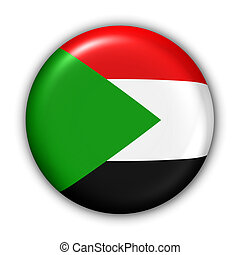 Sudan Flag - World Flag Button Series - Africa - Sudan With...