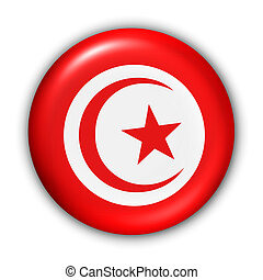 Tunisia Flag - World Flag Button Series -...