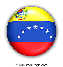 Venezuela Flag - World Flag Button Series - South America -...