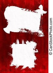 Framed Acrylic Paint - Acrylic paint on Canvas