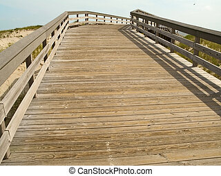 Beach Boardwalk - A wooden walkway going over the sand dunes...
