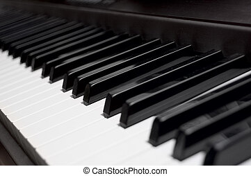 Piano Key Closeup Shallow depth of field