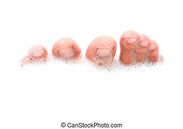 Bath Feet - Male feet in soapy bathwater