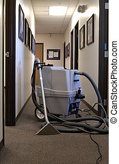Carpet Cleaning - A carpet cleaning maching in an office...
