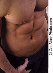 Torso - Close up of a muscular male torso