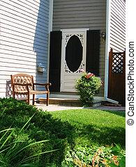 Door - Front Screen - Front door with shutters and victorian...