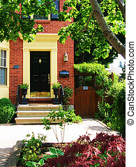 Door - Front - Front door to beautiful red brick townhome...