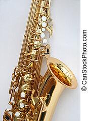 Saxophone 4 - A golden alto saxophone.