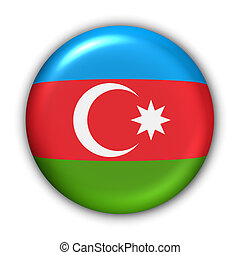 Azerbaijan Flag - World Flag Button Series - Asia -...
