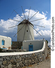 Windmill in Mykonos, Greece