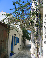 Alley way in Naxos