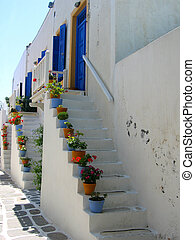 Stairs to front door, Paros
