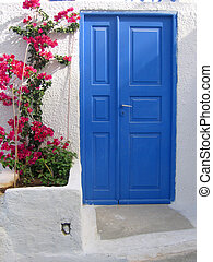 Door in Santorini, greek islands