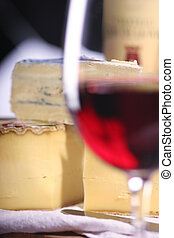 Cheese and wine - Tomme de Savoie, a semi firm french...