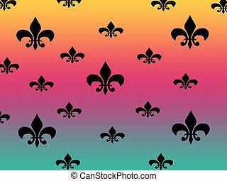 fluer de lys backgro - fluer de lys on multi color...