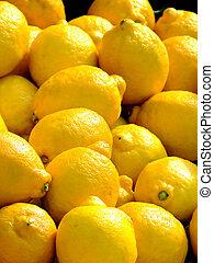 Lemon as selling on a market