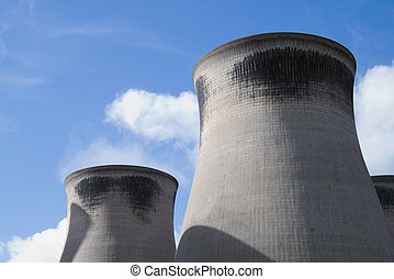 Cooling towers from a coal fired power station