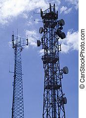 Telecommunication masts2 - Two telecommunication masts...