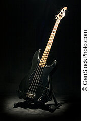 Bass - Black bass guitar