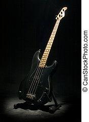 Bass - Black bass guitar