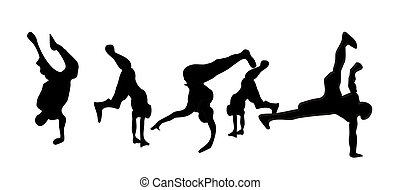 Breakdancers - handstand