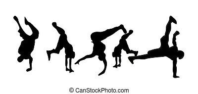 Breakdancers - handstand