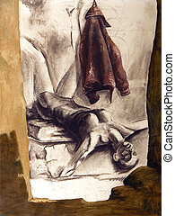 Lying woman - Illustration of lying woman, I am author of...