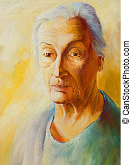 Portrait of man - this is painting portrait and face is not...