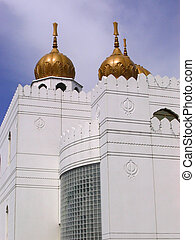 Sikh temple Montreal - domes on one corner of the Sikh...