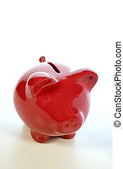 risparmio, rosso, banca