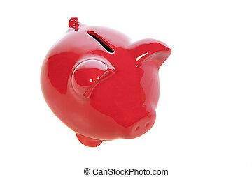 poupança, vermelho, banco