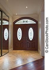 interior door.