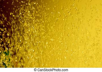 Yellow water drops air