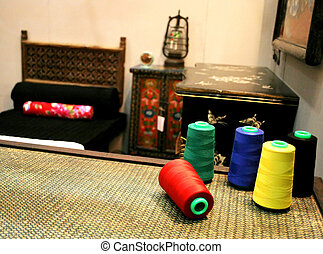 Cotton in oriental-style room