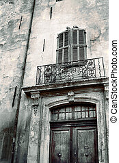 Aix-en-provence #44 - Door of an old building in...