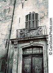 Aix-en-provence #44 - Door of an old building in...