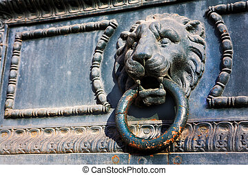 Aix-en-provence 73 - Door knocker in the shape of a Lion
