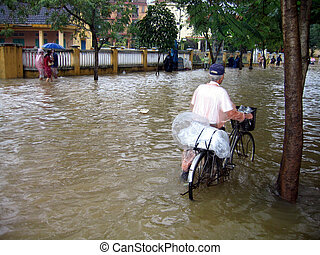 Flooding in Vietnam - Floods in Asia