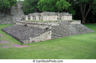 Mayan Temple - One of the temples in the Copan Ruinas