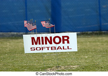 Softball Sign - Photo of a Softball Sign